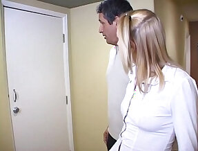 Pony tailed blonde sucks a big cock on cam