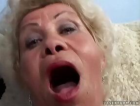 Granny fucks in POV
