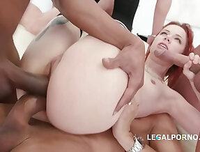 Tiny redhead slut Kira Roller takes and Facial cumshots