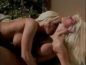 lesbian blondes on the pool
