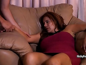 Juicy mature redhead is having a surprise while sleeping