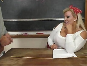 BBW Kirsten teacher Riding big Dick