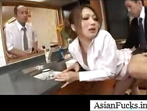 Asian in a Maid Cosplay Takes Load in Her Mouth, Pussy and Ass