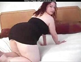 bbw Latina babe in stockings gets anal