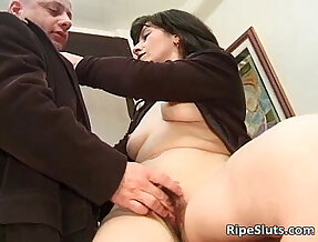 Dirty milf banged on the office