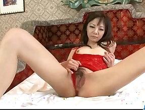 Extreme solo masturbation with horny sexy horny milf in lingerie Hikaru Aoyama