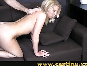 Casting Her first big cock