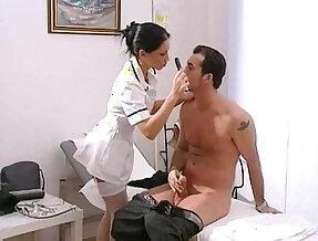 private practise sexy nurse mya diamond in stockings gets facial