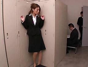 Amateur gossip columnist Haruka Sanada plays with her pussy and gets pleasured