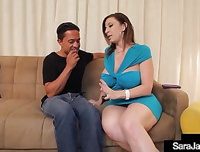PAWG Penis Pleasing Sara Jay Blows Bangs A Lucky Big Cock!