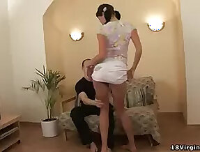 Horny Katya shows how naughty she can view with horror before having sex with her follower groupie