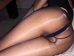 Love to fuck my wife in nylons with light bondage fuck