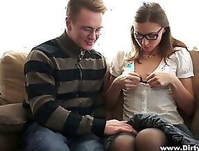 Straight A student in glasses Ananta Shakti turned to be very nasty chick