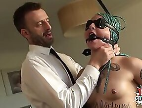 Raunchy porn star face pound and load in mouth