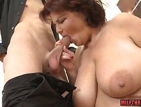 Big breast mother i´d like to fuck titty hump with jizz on knockers / Xozilla.com