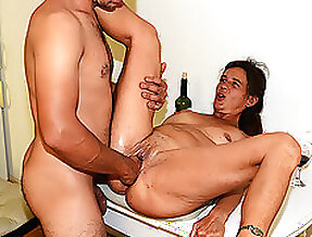 Mom rough fist fucked by stepson